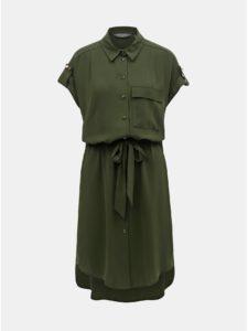 Tmavozelené košeľové šaty Dorothy Perkins Tall