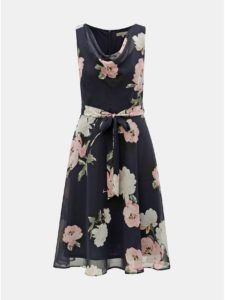 Tmavomodré kvetované šaty Billie & Blossom