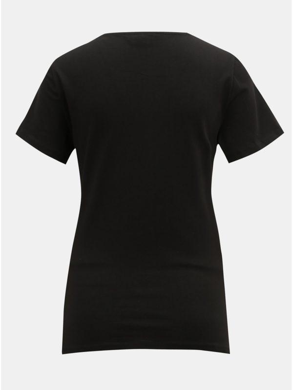 Čierne tehotenské tričko s madeirou Dorothy Perkins Maternity