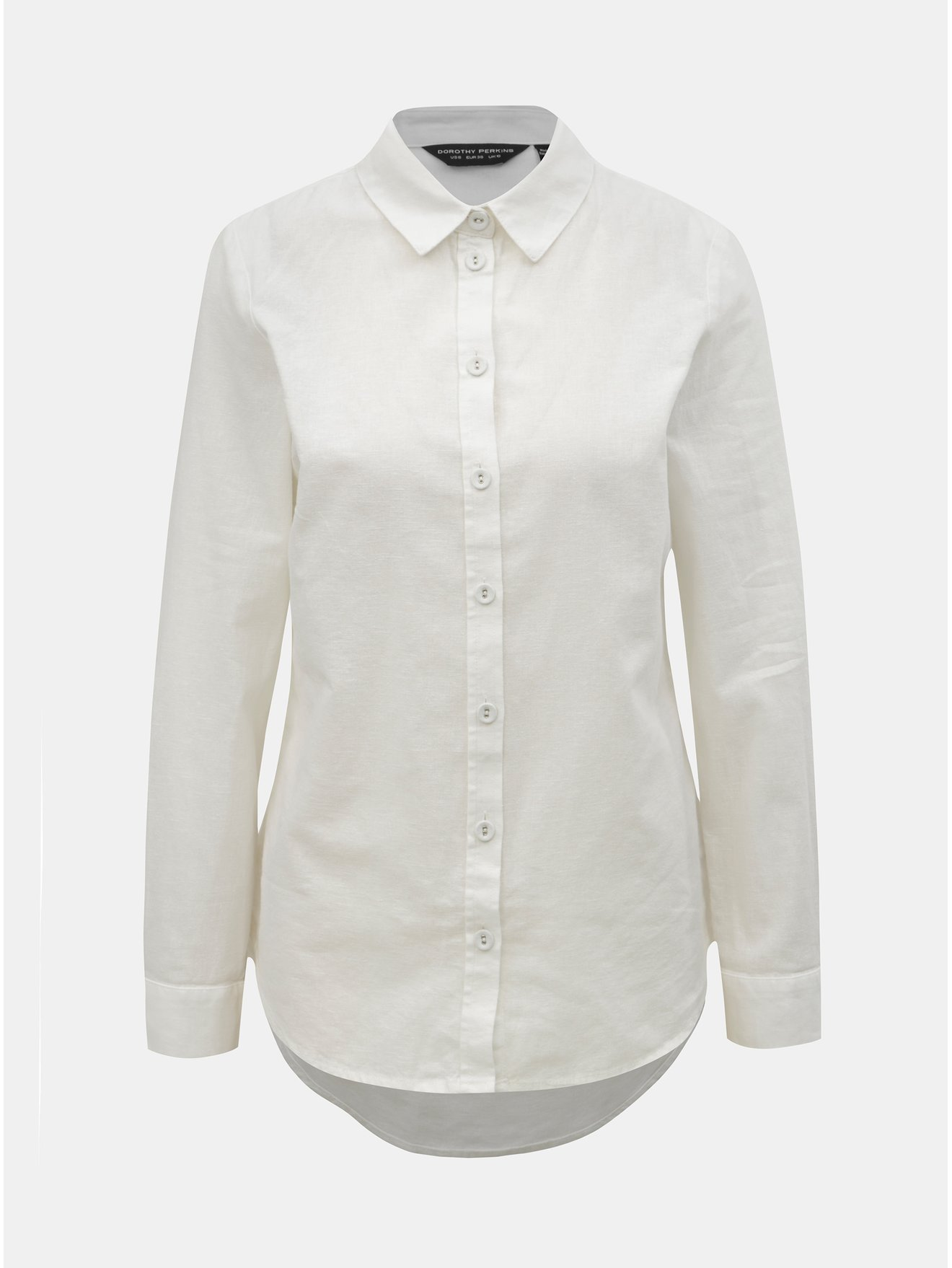 6980fb37b8d4 Biela košeľa s prímesou ľanu Dorothy Perkins