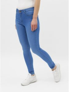Modré super skinny fit rifle Dorothy Perkins Frankie