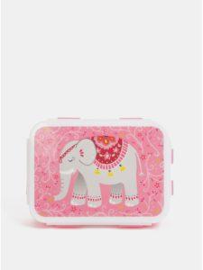Ružový desiatový box s motívom slona Sass&Belle Mandala Elephant