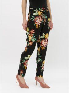 Čierne kvetované nohavice Dorothy Perkins