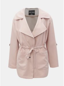 Svetloružový krátky kabát TALLY WEiJL Pedarrell