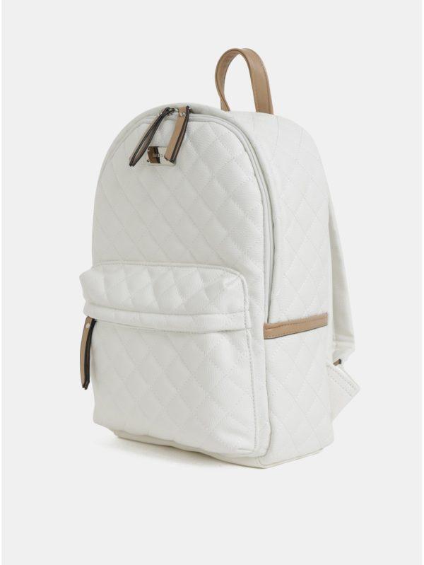 Biely prešívaný batoh Bessie London
