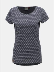 Modré dámske vzorované tričko Ragwear Mint