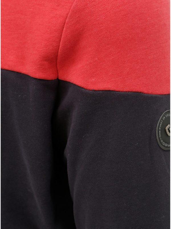 Červeno–sivá pánska mikina Ragwear Dotte
