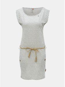 Svetlosivé vzorované šaty s vreckami Ragwear Tag