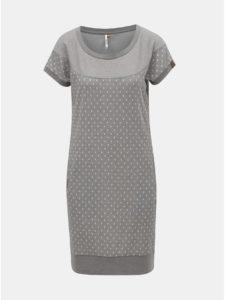 Sivé mikinové bodkované šaty Ragwear Claire
