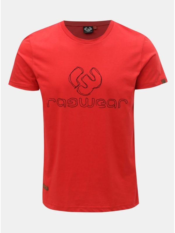 Červené pánske tričko s potlačou Ragwear Charles