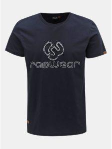 Tmavomodré pánske tričko s potlačou Ragwear Charles