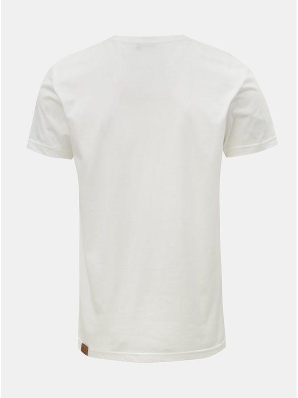Biele pánske tričko s potlačou Ragwear Charles