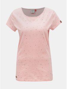 Ružové dámske tričko s motívom Ragwear Mint Luck