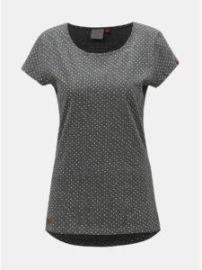 Tmavosivé dámske bodkované tričko Ragwear Mint Dots