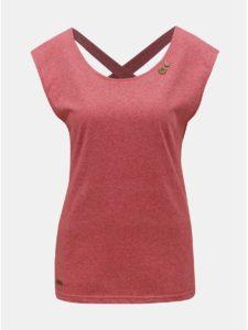 Červené dámske melírované tričko s pásikmi na chrbte Ragwear Sofia