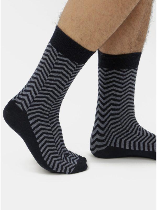 Balenie piatich párov modrých vzorovaných ponožiek Burton Menswear London
