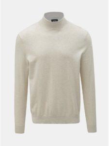 Krémový sveter s rolákom Burton Menswear London