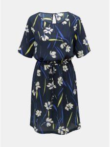 Tmavomodré kvetované šaty Jacqueline de Yong Innes