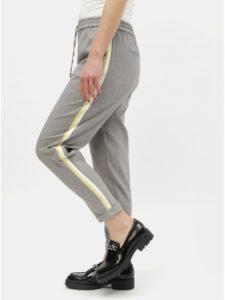 Sivé nohavice s pruhmi na bokoch ONLY Roma