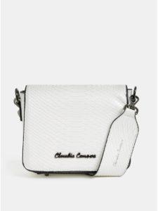 Biela crossbody kabelka s krokodílím vzorom Claudia Canova Priti
