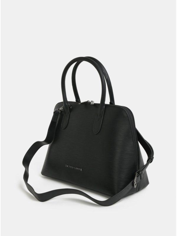 Čierna kožená kabelka Smith & Canova Kiri