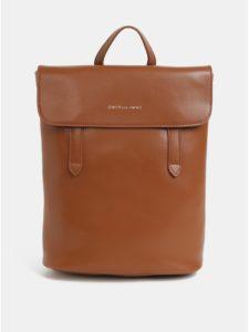 Hnedý kožený batoh Smith & Canova Miza