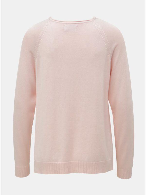 Svetloružový sveter s rozparkami ONLY New