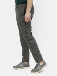 Sivé melírované slim fit nohavice Burton Menswear London