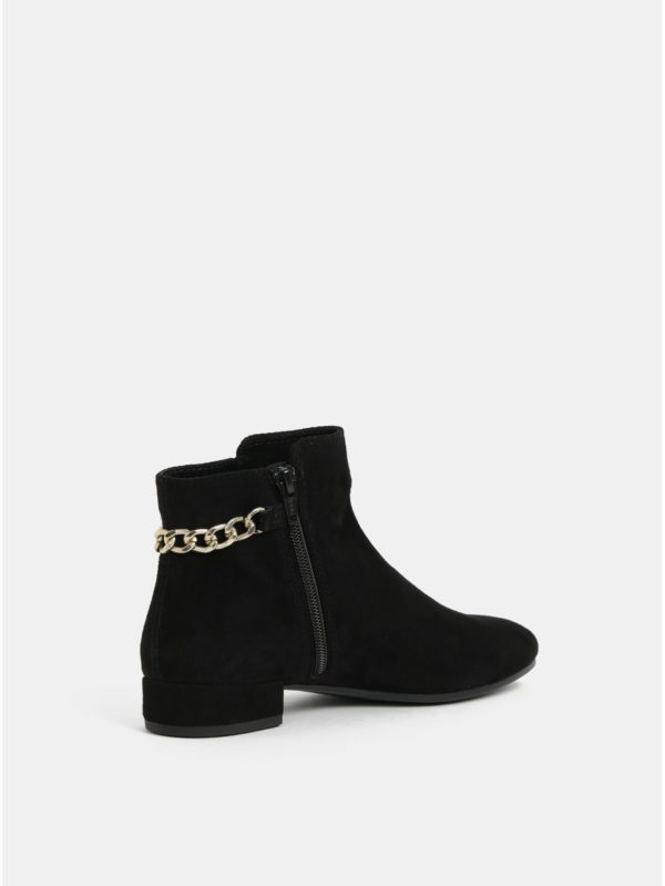 Čierne dámske semišové členkové topánky Vagabond Suzan