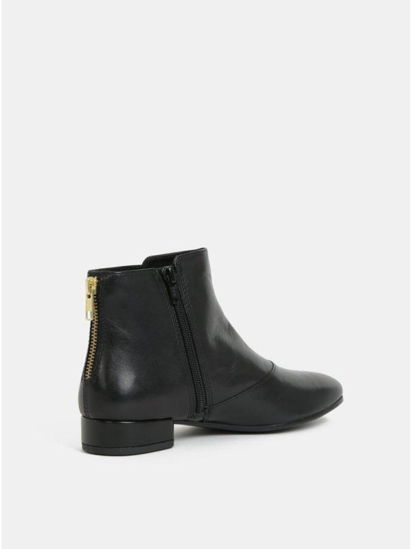 Čierne dámske kožené členkové topánky Vagabond Suzan