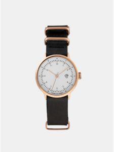 Dámske hodinky s čiernym remienkom z vegánskej kože CHPO Harold Mini