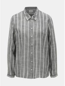 Sivá pruhovaná košeľa Jacqueline de Yong Janine