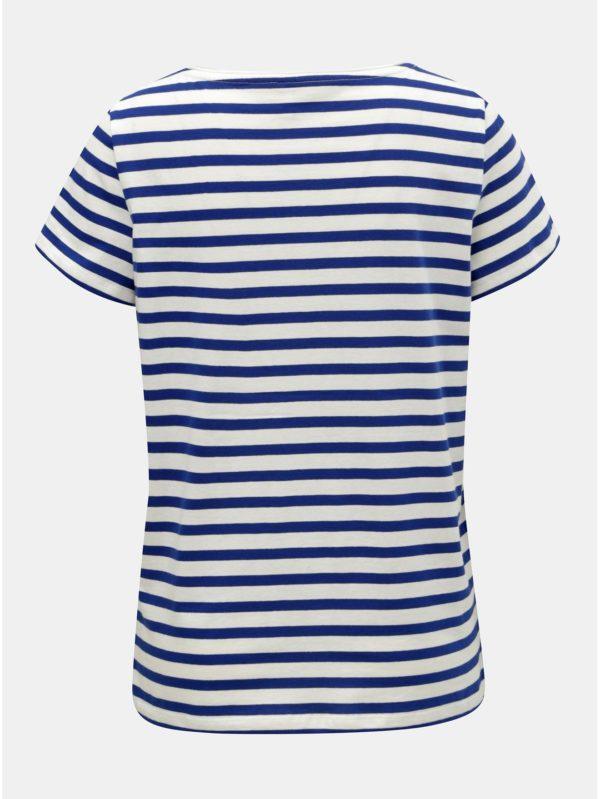 Bielo–modré pruhované basic tričko ONLY Brave