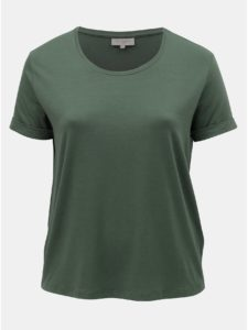 Kaki basic tričko ONLY CARMAKOMA Carcama