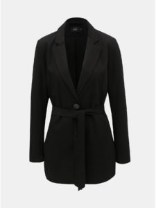 Čierne sako s opaskom ONLY Annya