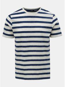 Modro–biele pruhované tričko ONLY & SONS Elky
