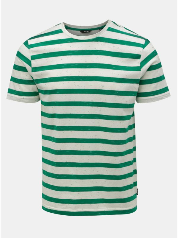 Zeleno–biele pruhované tričko ONLY & SONS Elky