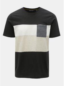 Tmavosivé tričko s náprsným vreckom ONLY & SONS Erik