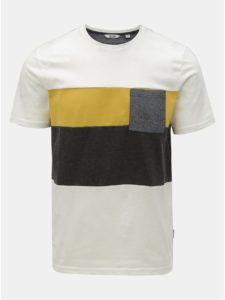 Biele tričko s náprsným vreckom ONLY & SONS Erik