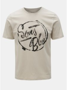 Krémové tričko s potlačou ONLY & SONS Lounge