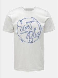 Biele tričko s potlačou ONLY & SONS Lounge