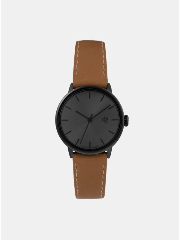 Dámske hodinky s hnedým remienkom z vegánskej kože CHPO Khorshid mini