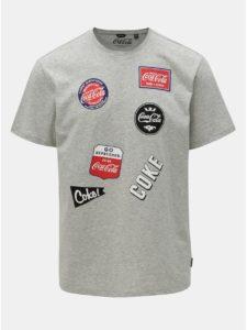 Sivé melírované regular fit tričko s potlačou ONLY & SONS Fresh Cola
