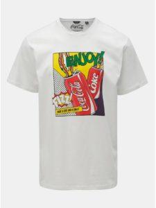 Biele regular fit tričko s potlačou ONLY & SONS Fresh Cola
