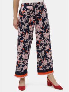 Tmavomodré kvetované nohavice Jacqueline de Yong Yadira