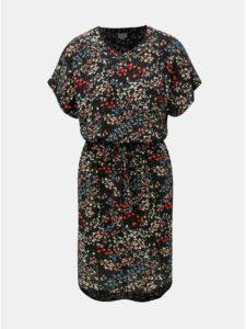 Čierne kvetované šaty Jacqueline de Yong Josephine