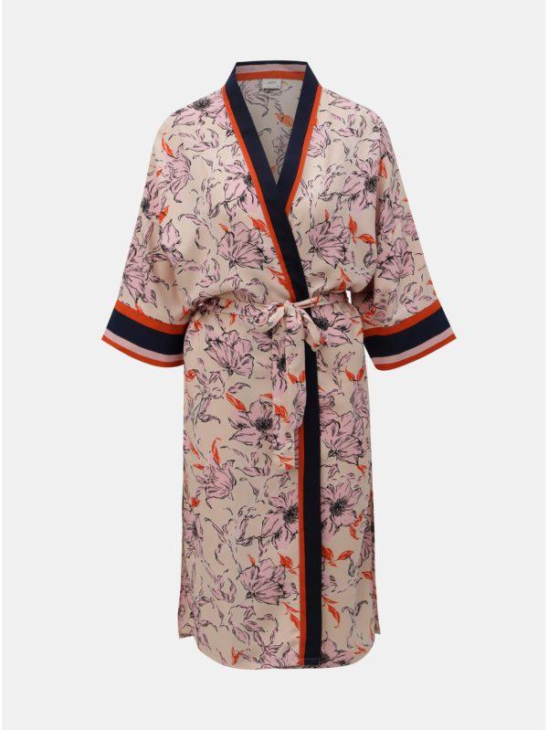 Ružové kvetované kimono Jacqueline de Yong Adira