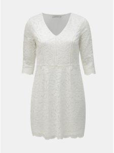Biele čipkované šaty ONLY CARMAKOMA Samant