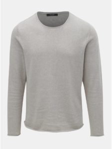 Svetlosivý ľanový sveter Jack & Jones Linen