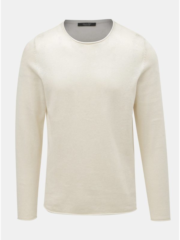 2cf86fe95b6c Krémový ľanový sveter Jack   Jones Linen